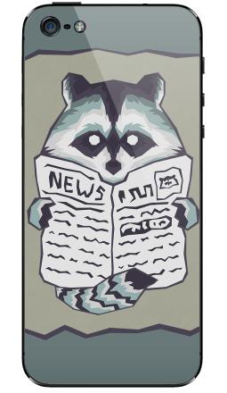 Raccoon & Newspaper, iPhone 5