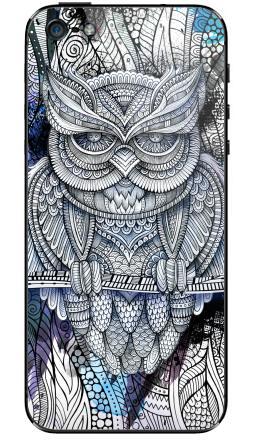 Наклейка на iPhone 5 - Doodle owl