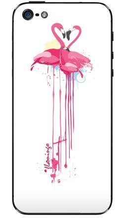Наклейки для iPhone 5 Фламинго