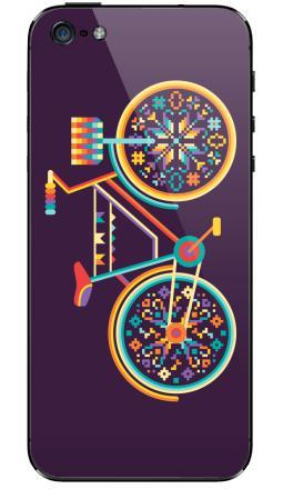 Наклейка на iPhone 5 - Hippie Bike