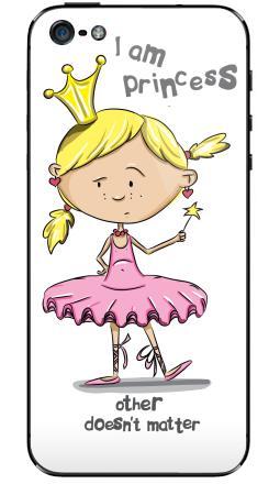 Наклейка на iPhone 5 - I'm princess
