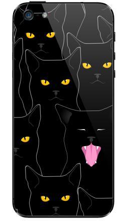Наклейка на iPhone 5 - Котики detected