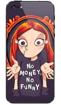 Наклейки для iPhone 5 No money