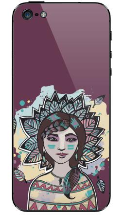 Наклейка на iPhone 5 - Пёстрый лист