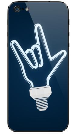 Наклейка на iPhone 5 - Рок-лампочка