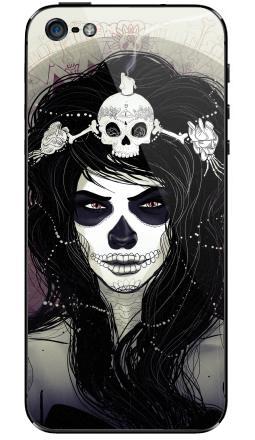 Наклейка на iPhone 5 - Santa Muerte