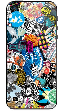 Наклейка на iPhone 5 - Стикербомбинг Stickerbombing