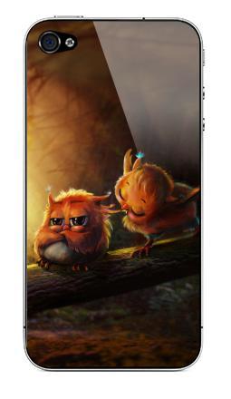 Наклейка на iPhone 4S, 4 - Не дуйся