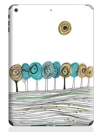 Наклейка на планшеты - iPad Air 2 - Деревья. графика