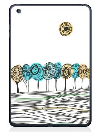 Наклейка на планшеты - iPad Mini 4 - Деревья. графика