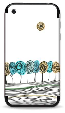 Наклейка на iPhone 3G, 3Gs - Деревья. графика
