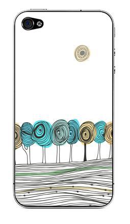 Наклейка на iPhone 4S, 4 - Деревья. графика