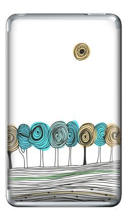 Наклейка на iPod Classic - Деревья. графика