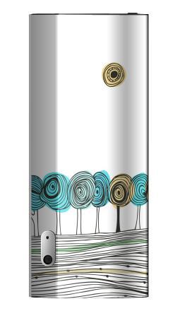 Наклейка на iPod nano 5 - Деревья. графика