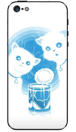 Наклейка на iPhone 5 - ДВА КОТЁНКА И СГУЩЁНКА