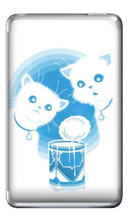 Наклейка на iPod Classic - ДВА КОТЁНКА И СГУЩЁНКА