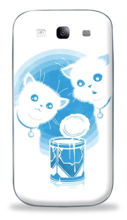 Наклейка на Galaxy S3 (i9300) - ДВА КОТЁНКА И СГУЩЁНКА