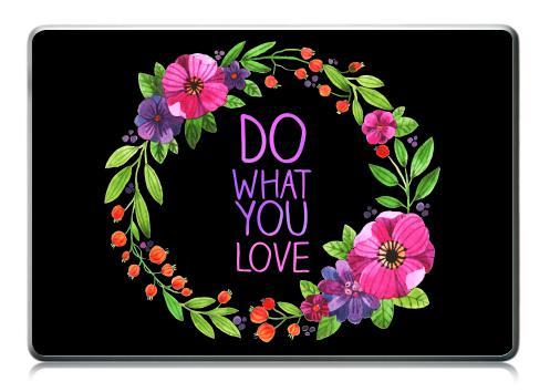 Наклейка на ноутбук - Macbook Pro (не Retina) - Делай то что любишь