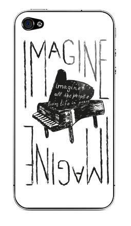 Наклейка на iPhone 4S, 4 - Представь себе