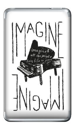 Наклейка на iPod Classic - Представь себе