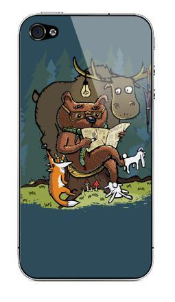 Наклейка на iPhone 4S, 4 - Михалыч вернулся!
