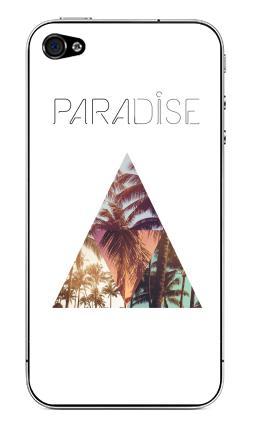 Наклейка на iPhone 4S, 4 - Paradise