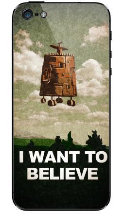 Наклейка на iPhone 5 - I want to believe