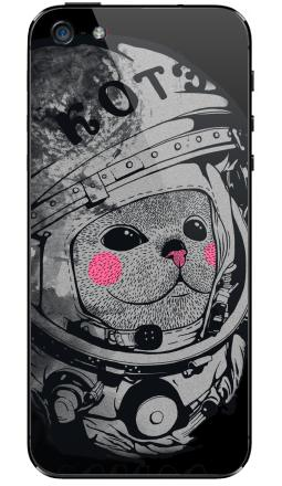 Наклейка на iPhone 5 - Котэ-космонафтэ