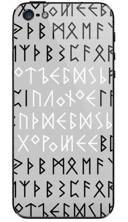 Наклейка на iPhone 5 - Руны
