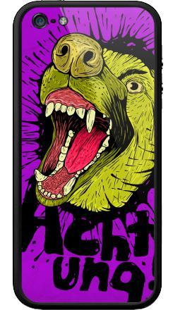 Наклейка на Бампер на iPhone 5, 5S - Achtung!