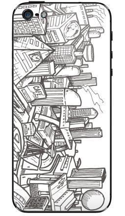 Наклейка на iPhone 5 - Город