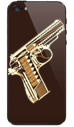 Наклейка на iPhone 5 - Gun