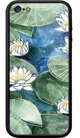 Наклейка на Бампер на iPhone 5, 5S - Лилия