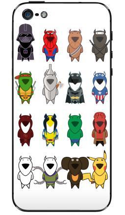 Наклейка на iPhone 5 - My heroes