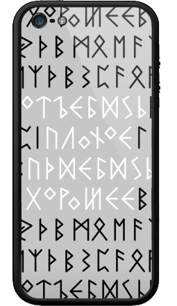 Наклейка на Бампер на iPhone 5, 5S - Руны