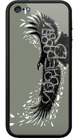Наклейка на Бампер на iPhone 5, 5S - Слово не воробей