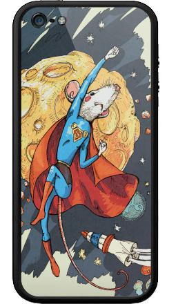 Наклейка на Бампер на iPhone 5, 5S - СуперМышь