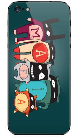 Наклейка на iPhone 5 - The mafia