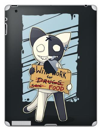 Наклейка на планшеты - iPad 2 / iPad 3 The new c яблоком - Will work for...