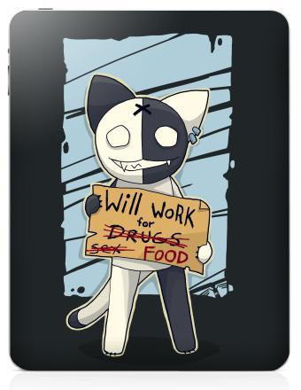 Наклейка на планшеты - iPad - Will work for...