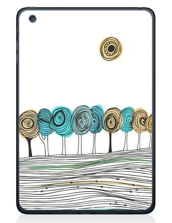 Наклейка на планшеты - iPad Mini 1/2/3 - Деревья. графика