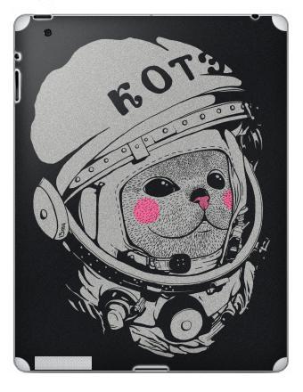 Наклейка на планшеты - iPad 2 / iPad 3 - Котэ-космонафтэ