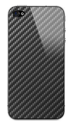 Наклейка на iPhone 4S, 4 - Carbon Fiber Texture