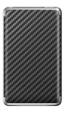 Наклейка на iPod Classic - Carbon Fiber Texture