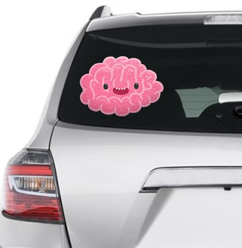 Happy_brain - наклейки на авто