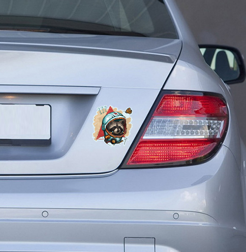 Весенний енот - наклейки на авто