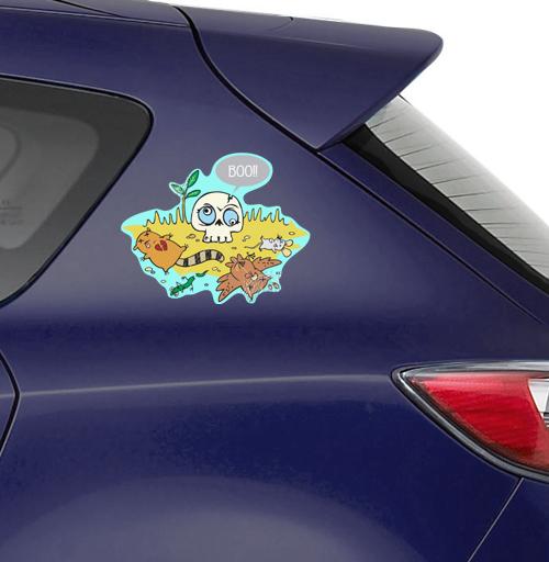Bluboo - наклейки на авто