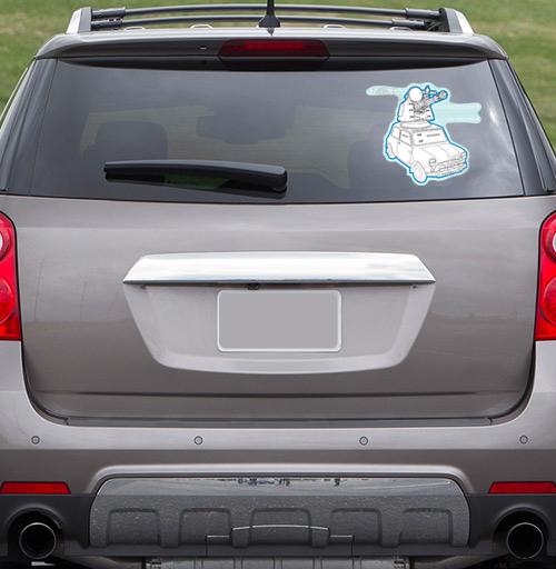 Мини Танк - наклейки на авто