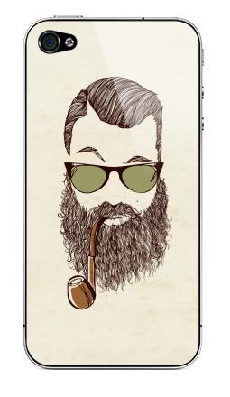 Наклейка на iPhone 4S, 4 - Верьте мне, у меня есть борода