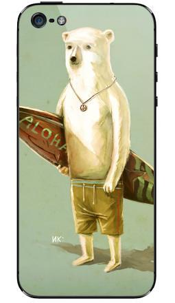 Наклейка на iPhone 5 - Алоха